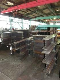 Mグレード認定工場に搬入された鉄骨