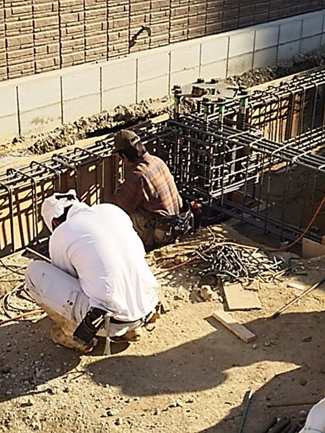 鉄筋工事 ベースパック施工