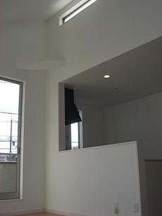 2階リビング天井 吹き抜け