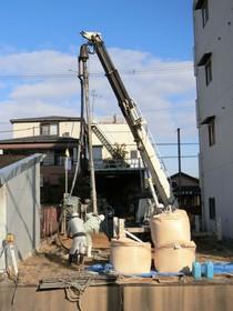 地盤改良 湿式柱状改良杭工事