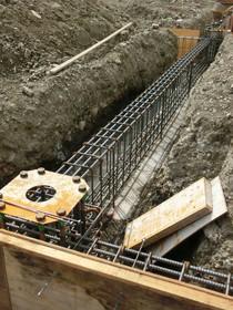ごっつい基礎の地中梁とベースパック