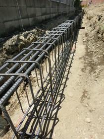 基礎地中梁の鉄筋
