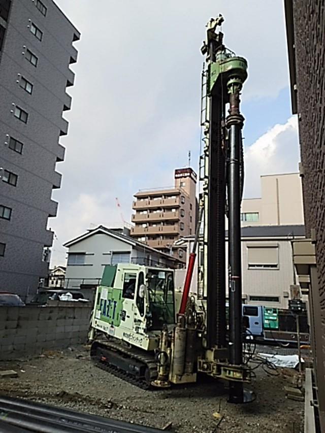 地盤改良工事 EZ鋼管杭施工