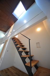 憧れのオープン階段