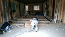 大工工事 床下地工事 シロアリ防虫等もこの時に施工します。