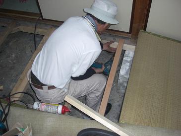 リフォーム松原市 床下補強 床下修繕 和室床鳴り修理