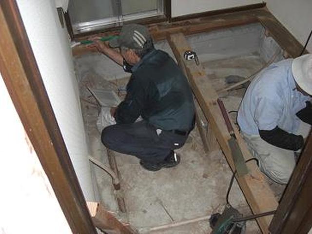 リフォーム富田林市 床下補強工事 洗面所リフォーム 天然竹のさわやかな「スリムタイプカーペット」