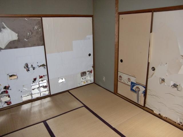 リフォーム兵庫県尼崎市 洗面所リフォーム 内装リフォーム(クロス張替・壁紙張替・クッションフロアー張替)和室から洋室へ