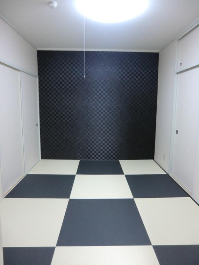 リフォーム東大阪市 内装リフォーム(クロス張替・壁紙張替・クッションフロアー張替) シンプルモダン和室