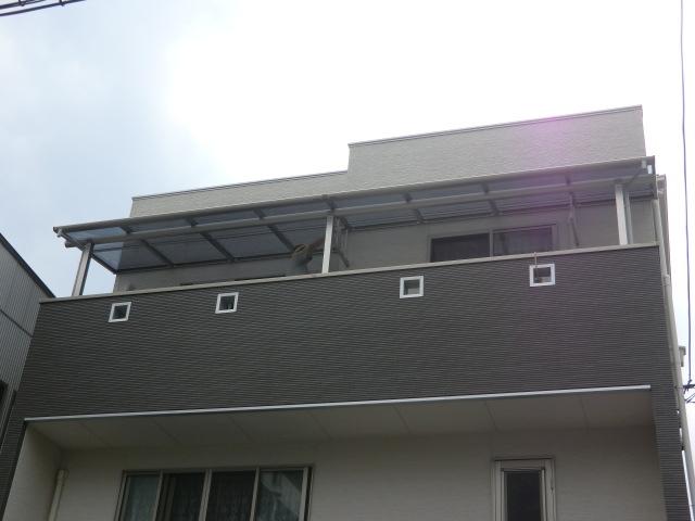 リフォーム大阪市住吉区 エクステリアリフォーム バルコニーテラス屋根設置工事
