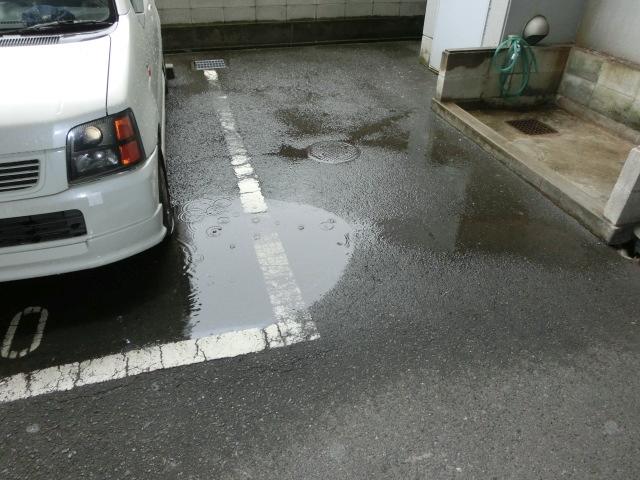 水溜まり解消工事