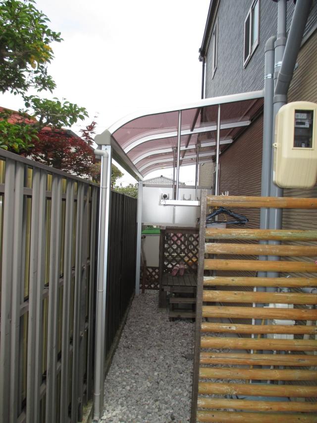 大阪府堺市南区テラス屋根設置工事